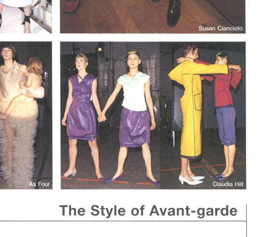 Susan Cianciolo | As Four | Claudia Hill | The Style of Avant-garde