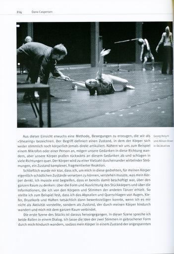 """Page 114 of """"William Forthsythe: Denken in Bewegung"""" by Gerald Siegmund"""
