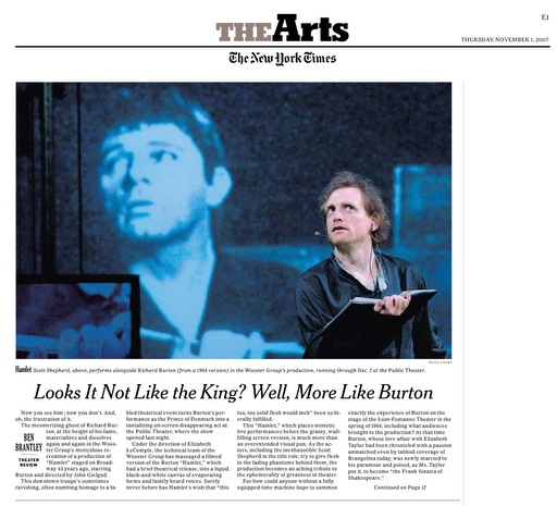 Page E1 of the November 3, 2007 Issue of The New York Times