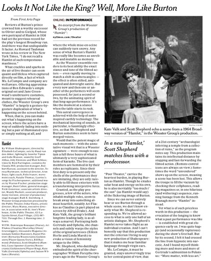 Page E12 of the November 3, 2007 Issue of The New York Times